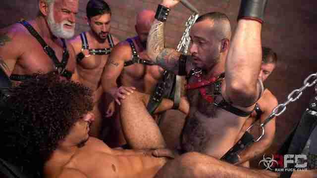 Derek's Leather Daddy Gang Bang – Part 2 [Bareback]