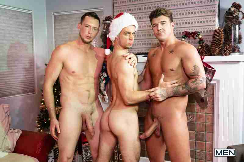 "Pierce Paris, Michael DelRay, JJ Knight ""Jingle Balls Cock: Bareback"""