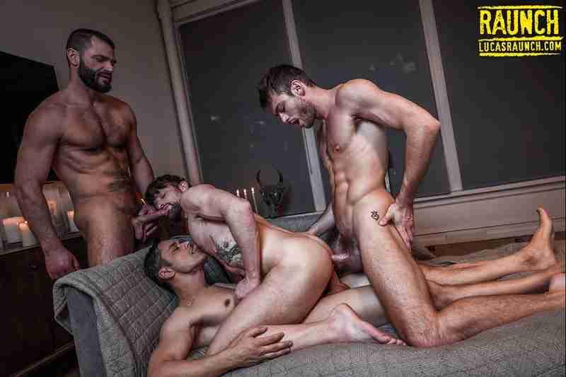 Drew Dixon's Ass-Tearing Double Penetration (with Jake Morgan, Rafael Alencar & Max Adonis)[Bareback]