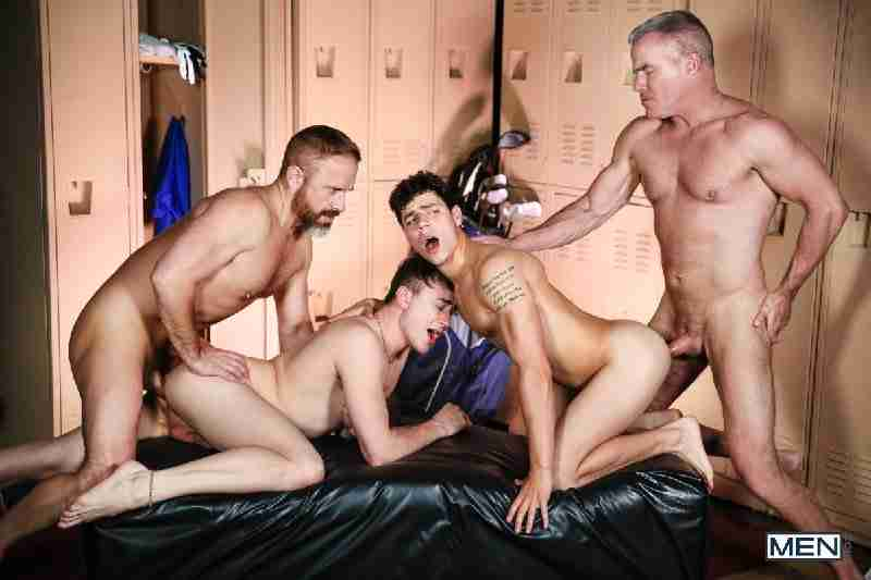 "Kaleb Stryker, Dirk Caber, Zander Lane, Dale Savage ""The Caddy And The Daddy Part 3: Bareback"""