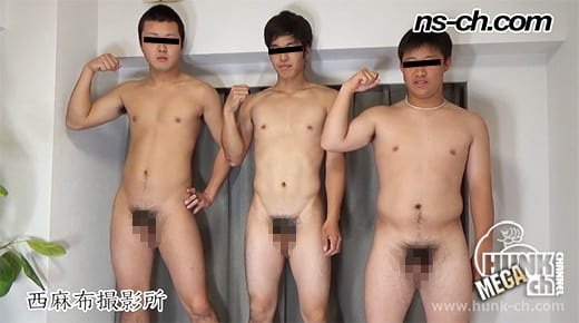 HUNK CHANNEL – NS-673 – 男経験0の体育会男子たち(175cm72kg20歳・175cm68kg20歳・160cm65kg18歳大学生)