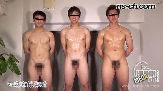 HUNK CHANNEL – NS-795 – 体育会系部員が初撮影にチャレンジ178cm80kg18歳大学生・180cm80kg18歳大学生・169cm67kg19歳