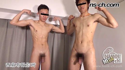 HUNK CHANNEL – NS-800 – 友人と一緒に初撮影180cm76kg18歳大学生・169cm58kg18歳大学生