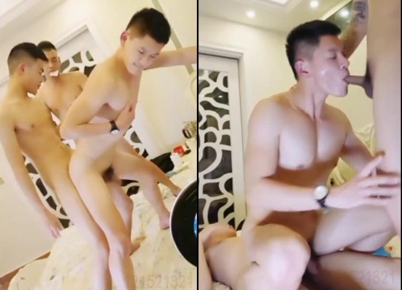 THREESOME CHINESE GAYS FUCK