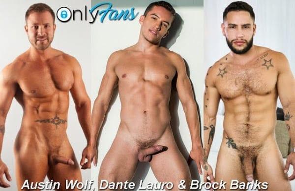 AUSTIN WOLF, DANTE LAURO & BROCK BANKS (BAREBACK)