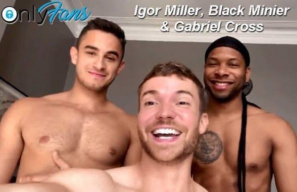 IGOR MILLER, BLACK MINIER & GABRIEL CROSS (BAREBACK)