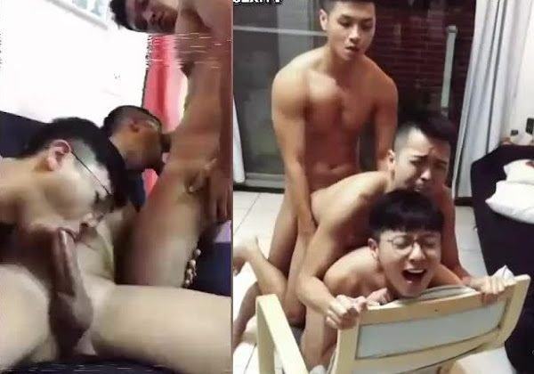 Gay China threesome