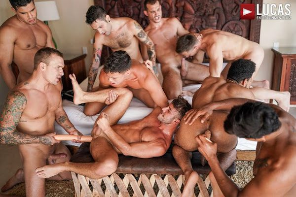 THE LUCAS MEN'S HOT AND HEAVY ORGY PART 01 (BAREBACK)